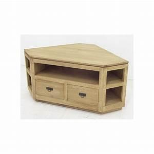 Meuble D Angle : meuble tv d 39 angle en bois 120cm helena ~ Teatrodelosmanantiales.com Idées de Décoration