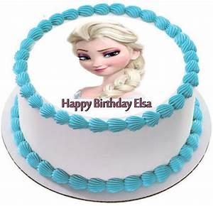 Frozen Elsa Face 2 Edible Cake Topper & Cupcake Toppers