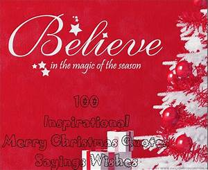 Top 100 Inspirational Merry Christmas Quotes Sayings Wishes
