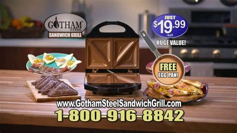 gotham steel sandwich grill tv commercial perfectly cooked featuring daniel green ispottv