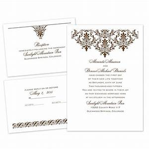High style separate and send invitation ann39s bridal for Wedding invitations separate and send