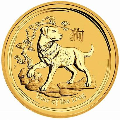 Gold Dog Coin Lunar Australian 1oz
