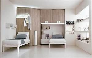 Armoire Pont De Lit : armoire lit escamotable et lits superpos s chambre d 39 enfant ~ Teatrodelosmanantiales.com Idées de Décoration