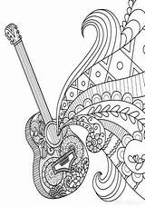 Coloring Pages Zentangle Journal Notebook Diary Grid Piano Guitar Dot Blank Adults Books Adult Colouring Bullet Hippy Line Printable sketch template