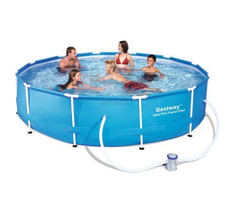 frame pool bestway bestway steel pro frame swimming pool set 12ft