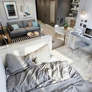 77, Amazing, Small, Studio, Apartment, Decor, Ideas, 54