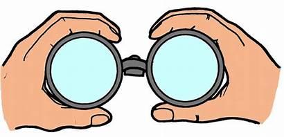 Binoculars Clipart Vision Binocular Kid Tunnel Future