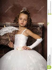 little girl in wedding dress stock image image of With little girl wedding dress
