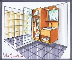 Dessin Intérieur Maison : douche a l italienne le blog de elise fossoux ~ Preciouscoupons.com Idées de Décoration