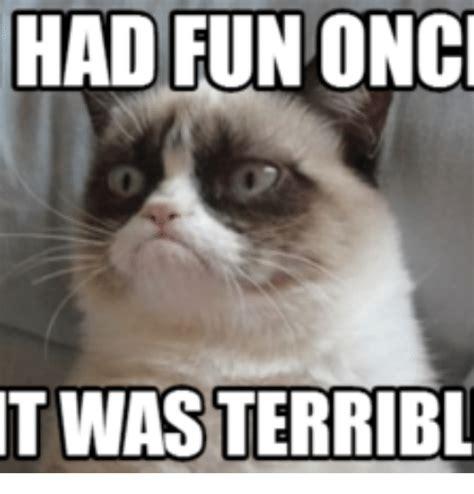 Grumpy Cat Meme I Had Fun Once - haditunonc t wasterribl grumpy cat i had fun once meme on me me