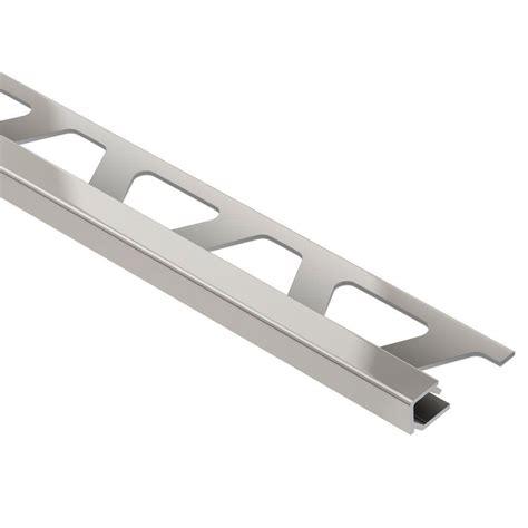 Schluter Tile Trim Edges by Schluter Quadec Satin Nickel Anodized Aluminum 1 2 In X 8