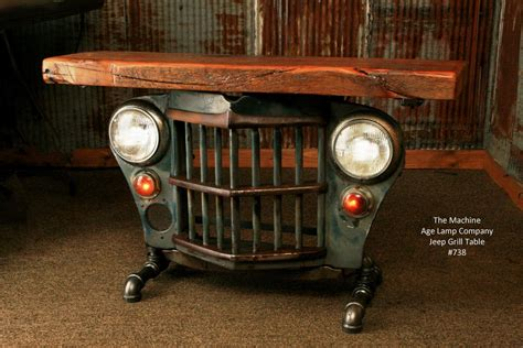 cj tables and industrial antique jeep cj military willys grille table or
