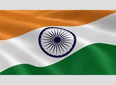 Flag Of India Waving With Realistic Cloth Texture