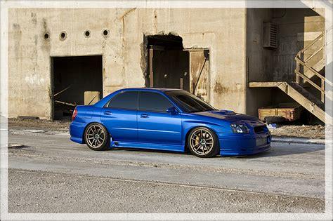 subaru wrx custom blue subaru impreza wrx sti custom wheels work wheels emotion