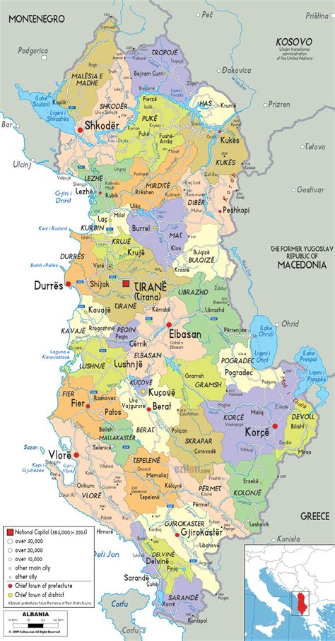 Maps Of Albania  Albania Detailed Map In English