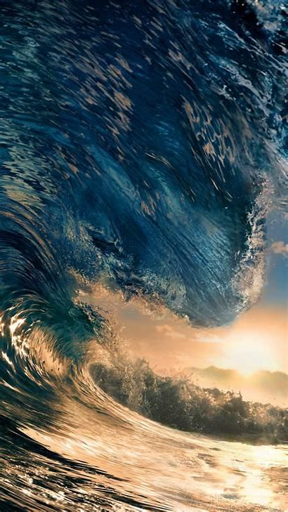 4k Ocean Water Sea Wallpapers Wave Sunset