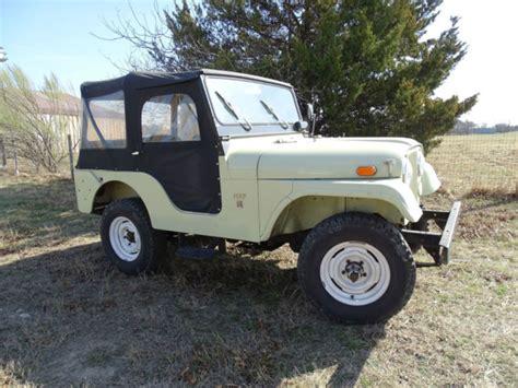 jeep kaiser cj5 1969 kaiser jeep cj5 spring green v6 38 206 original miles
