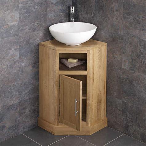 Small Bathroom Corner Sink Unit by Solid Oak Space Saving Corner Bathroom Freestang Vanity
