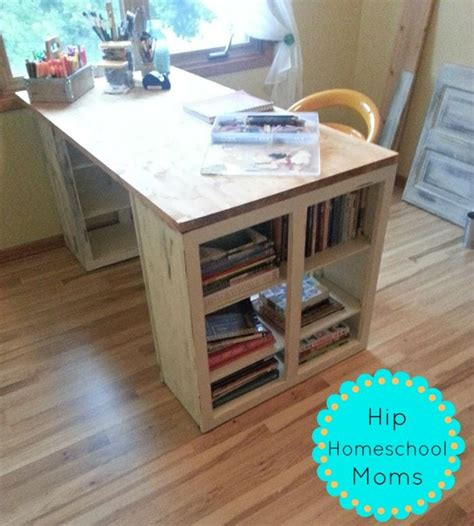 diy craft desk hack hip homeschool moms