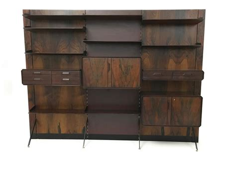 brass bookcase rosewood formica and brass bookcase 1960s for sale at
