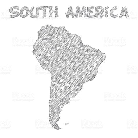 Drawn Map South America Pencil And In Color Drawn Map