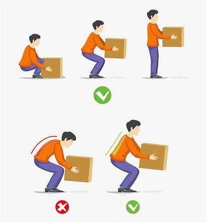 Lifting Bad Posture Correct Technique Clipart Clipartkey