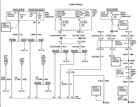 2002 chevrolet avalanche parts diagram lights wiring