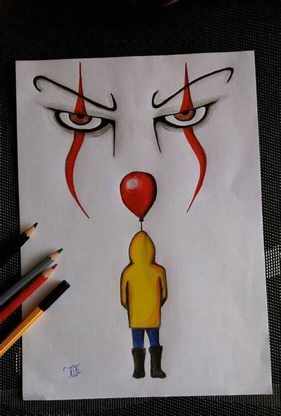 Drawing Clown Pennywise Drawings Cool Simple Dancing