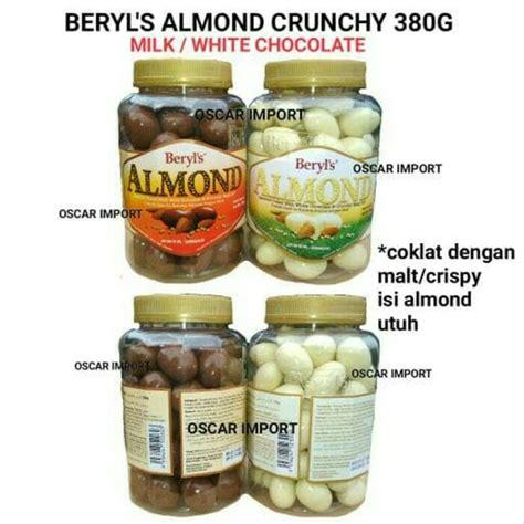 jual beryls jar almond crunchy chocolate milk white