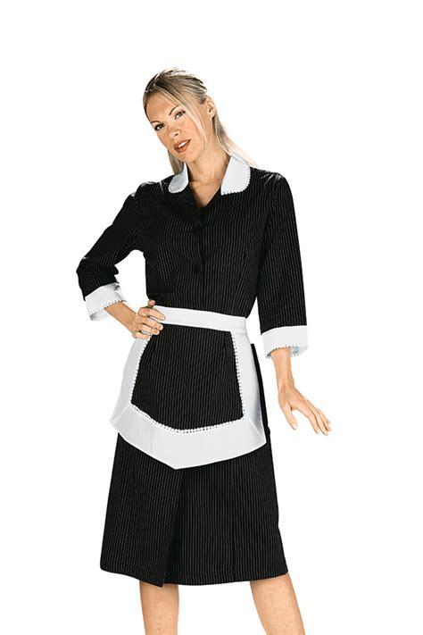 tenue de travail femme de chambre blouse femme de chambre et tablier noir et blanc 100 coton