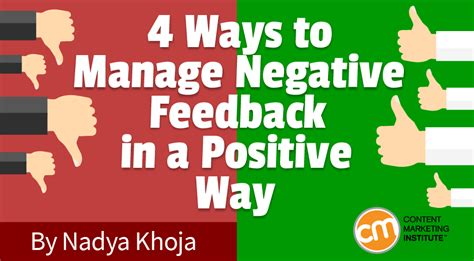 4 Ways To Manage Negative Feedback In Positive Way