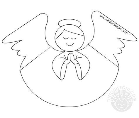disegni da colorare 3d angelo 3d di carta tuttodisegni