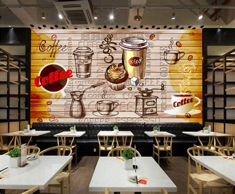 custom retro wallpapercoffeed retro murals   cafe