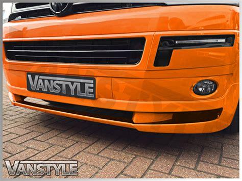 vw t5 10 15 abs front bumper splitter spoiler vanstyle
