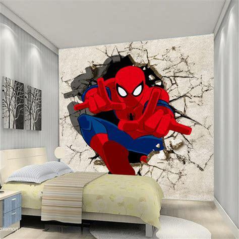 desain kamar tidur anak laki laki tema spiderman