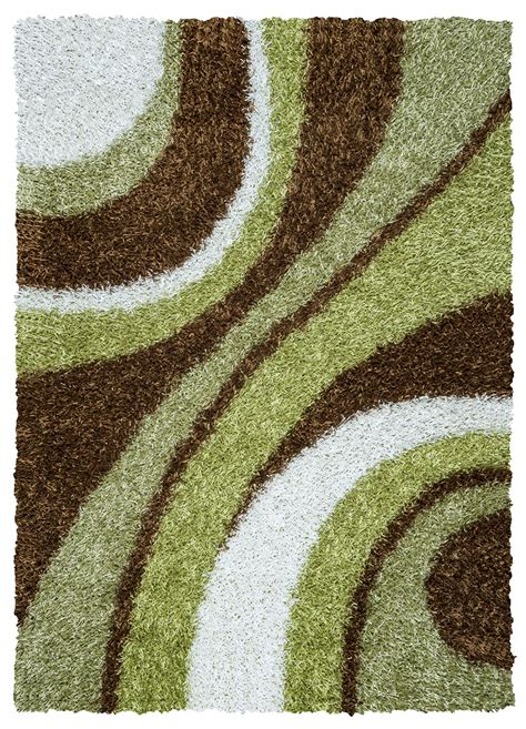 white and brown rug kempton ultra plush striped area rug in brown white