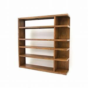 Meuble Bibliothèque Bois : biblioth que en palissandre meuble de bureau au style zen ~ Teatrodelosmanantiales.com Idées de Décoration