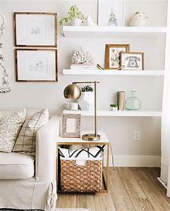 Best ideas about white wall shelves on