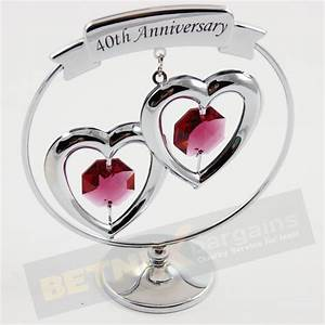 40th ruby wedding anniversary gift swarovski crystal ebay With 40th wedding anniversary gifts