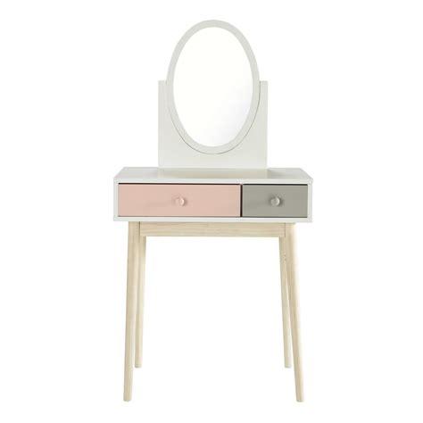 chambre bébé gris et blanc coiffeuse en bois blanche et l 69 cm blush maisons