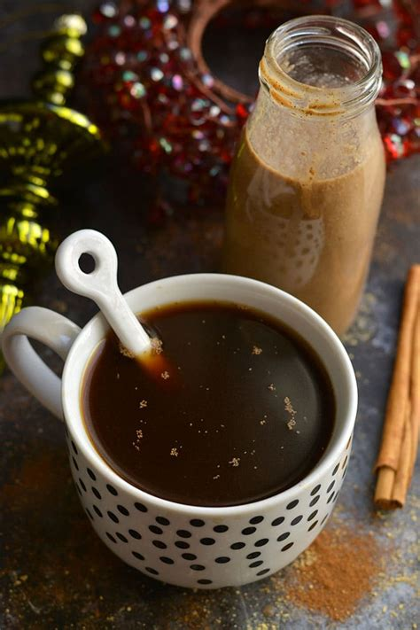 It's a good vegan coffee creamer, especially if you're on a low carb diet since it only contains 10 calories per 1 tbsp of the recommended serving. Skinny Gingerbread Coffee Creamer {Vegan, GF} - Skinny ...