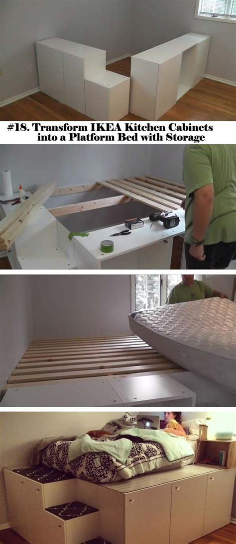 ikea kitchen cabinet bed frame best 25 platform bed storage ideas on bed