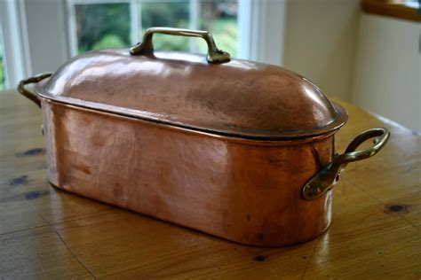 cm  gaillard silver lined truitiere vintage french copper
