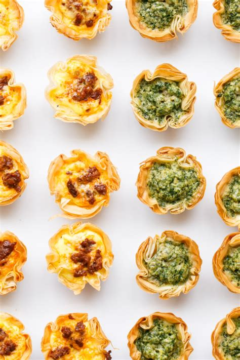 The perfect pie crust is both tender and flaky. Mini Quiche Bites with Phyllo Crust | Love and Olive Oil