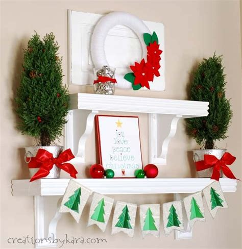 bookcase christmas decorating ideas silver green and red christmas shelf decor
