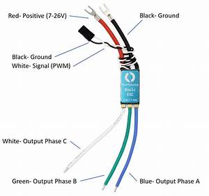 Basic Esc  Electronic Speed Controller  For Thrusters And