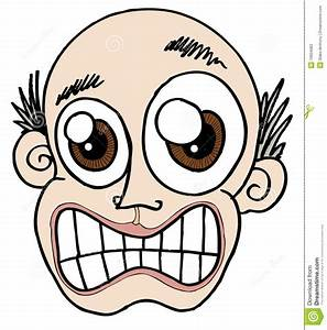 Bald Stressed out face stock vector. Image of stress ...