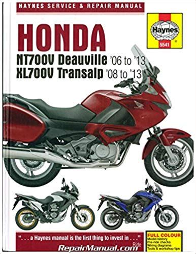 honda nt700v deauville and xl700v transalp 2006 2013haynes owners service and repair manual