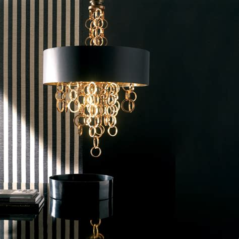 modern italian black and gold chandelier juliettes