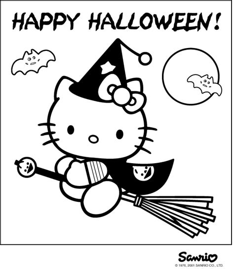 Hello Kitty Halloween coloring pages   coloring pages